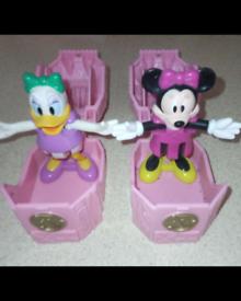 VINTAGE DISNEY Daisy Duck, Minnie mouse 🐁Pop Up Figures