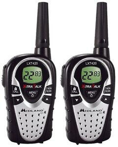 Midland LXT420 Walkie Talkie's with 2 radio charger