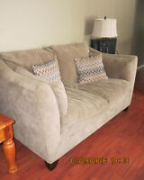 couch and love seat and other items moving sale