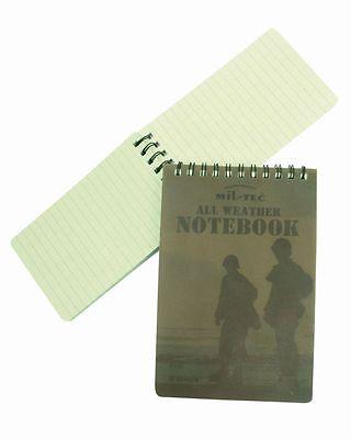 MIL-TEC BW Armee Schreibblock Wasserfest Meldeblock Notizbuch GC Logbuch Klein
