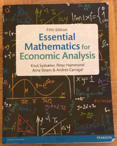 Essential Mathematics for Economic Analysis (5th Edition)