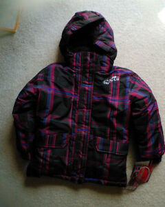 brand new girl snow coat size 6x with tag on