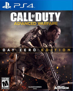 CALL OF DUTY ADVANCED WARFARE DAY ZERO PS4 FACTORY SEALED ₩ DLC