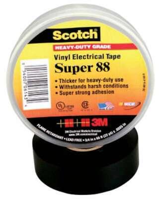 3m Electrical Scotch Super Vinyl Electrical Tapes 88 054007103073