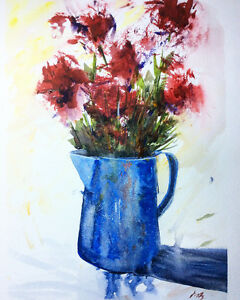 Original flower watercolour painting artist direct