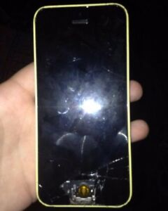 yellow iphone 5s for parts