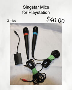 Singstar Mics for PS2, PS3