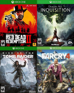 Selling/Trading Xbox One Red Dead 2, Tomb Raider, Farcry, more