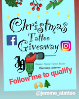 Free Holiday Tattoo Giveaway on Instagram