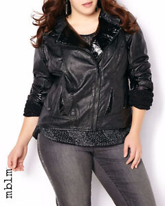 mblm Faux-Leather Jacket XL