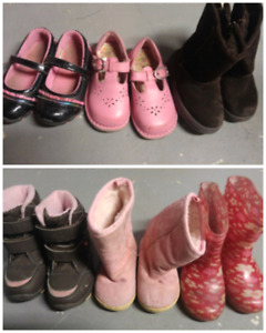 Toddler Boots and shoes Lot (toddler sizes 6,7,8)