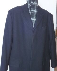 MENS XL WOOL Blend OVERCOAT Banana Republic Black 46 48 NEW Oakville / Halton Region Toronto (GTA) image 2