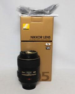 Nikon 105mm 1:2.8 G ED N Nano Micro VR Nikkor Prime Lens $750