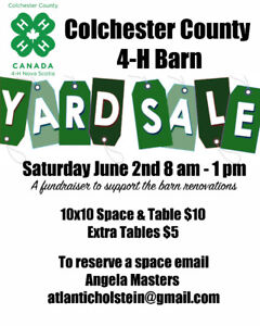 Sellers Wanted, Tables Avail. at Large Indoor Yard Sale June 2