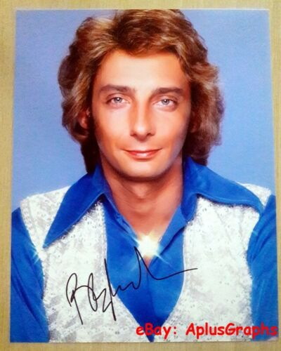 BARRY MANILOW.. Charming Singer / Songwriter (11x14) SIGNED