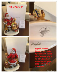 Great gift.! Christmas ROYAL DOULTON SIGNED CHRISTMAS JOY.  $100