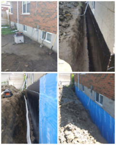 **905 Waterproofing** Digging By Hand!!