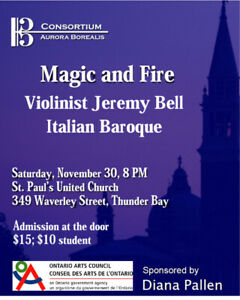 Consortium Aurora Borealis Concert - Magic & Fire: Jeremy Bell