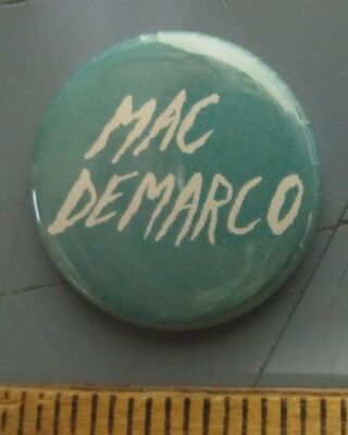 MAC DEMARCO 2014 Salad Days promotional button/pin back New Old Stock Mint Cond