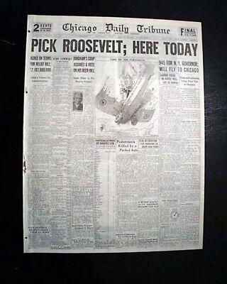 Best FRANKLIN D. ROOSEVELT FDR 1st Nomination for PRESIDENT 1932 Chi.