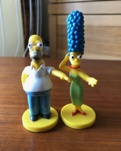 Vintage Simpsons 6 Figures - Kelloggs - Homer, Bart, Marge and m