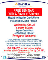FREE Seminar-Wills and Power of Attorney