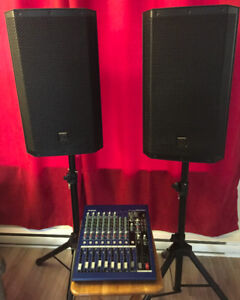 PA System, Electro-Voice, and Yamaha