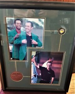 Mike Weir Masters win framed celebration.