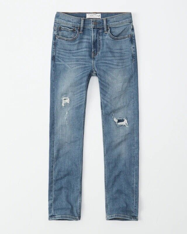 ABERCROMBIE KIDS Boy's 11/12 Super Skinny Jeans Sweatpant Stretch