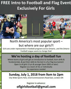 Free Girls Football Event - spaces limited