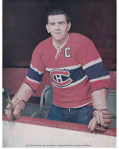 LOT  HOCKEY photo JEAN BELIVEAU MAURICE RICHARD