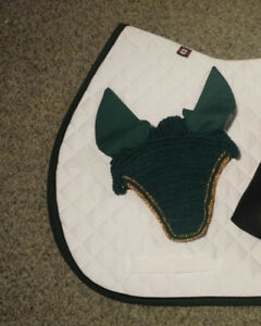 Green Fly Veil & Breastplate with Running Martingale