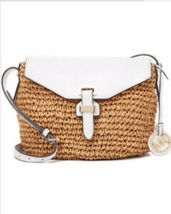 Michael Kors Leather/Straw Crossbody