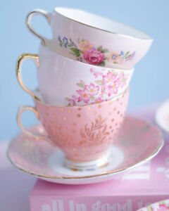Rentals - Pastel Teacups and Tea Party Dishes $7 per person