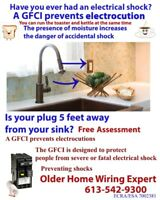 Kitchen Counter Outlets Warning Serious Protection
