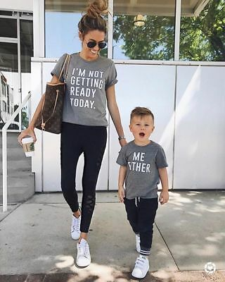 Family Tops Clothing Mother Parent Child Daughter Love T Shirt Matching Outfits