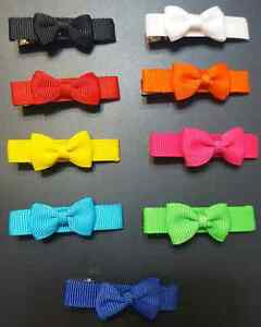 Bow and Flower Hair Clips