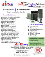 AC,Furnace,Ductwork,Venting,Gasline,Redtag,Tankless,Rooftop,Pool