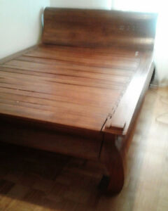 Solid Teak Platform Bed