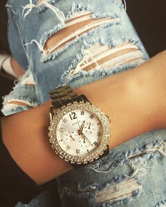 Gold studded guess watch London Ontario image 1