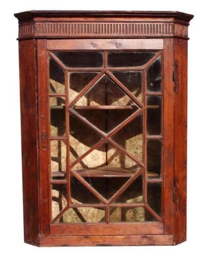 Antique English Hanging Corner Cupboard