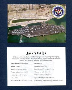 CV-67 USS JOHN KENNEDY Post Card Set US Navy Ship Squadron Cruise Patch Image