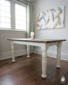 Rustic Wood Dining Tables - Custom color & sizes