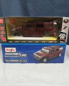 MAISTO Assembly Line Die-Cast Metal Model 1:27 2003 Hummer SUV