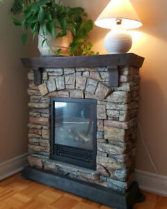 Electric Fireplace Heater Decorflame QCMP2000