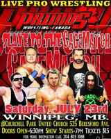 Primos wrestling canada Slave to the Cage match