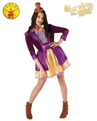 RUBIES Ladies Costume Fancy Dress Licensed Willy Wonka Chocolate Factory 820591