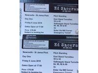 Ed Sheehan Tickets Newcastle