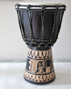 """AFRICAN DJEMBE DRUM 12"""" TALL"""