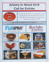 Artistry In Wood 2019 - Call for Entries
